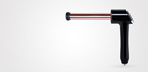 Perfect Beauty Rizador de pelo IRON SQUAD 25 Ø profesional de titanio - Mango ergonómico de 90º - Barril de 25mm, color negro