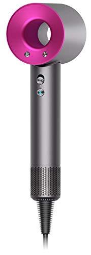 secador de pelo Dyson Supersonic, color metal y Fucsia, HD01, set de regalo