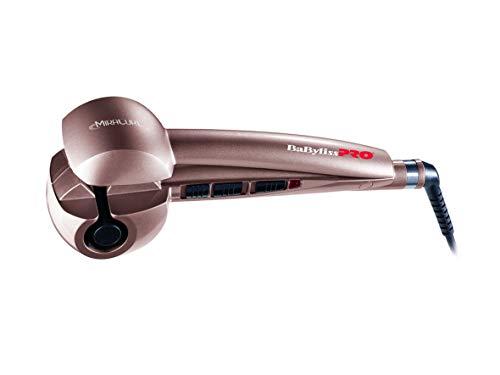 BaByliss Pro Miracurl Rose Gold - Rizador de pelo profesional 100% automático, 190°C-210°C-230°C, 3 tiempos de marcado para hacer ondas...