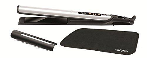 BaByliss ST455E Plancha de pelo Sensitive Edición Especial White&Gold, placas con cerámica negra anodizadas, 3 veces más suaves y...