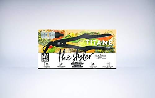 Jean Louis David The Styler - Plancha de Pelo Profesional con Revestimiento de Cerámica, 110 W de Potencia, para Todo Tipo de Cabello,...