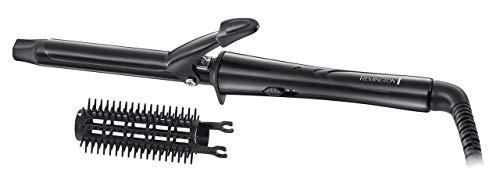 Remington Ceramic Tong CI1019 - Rizador de pelo, Pinza de 19 mm, Cerámica, Accesorio Cepillo, Punta Fría, Negro