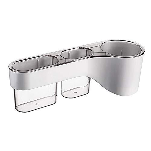 Kitchen-dream Soporte para secador de Pelo, Soporte para secador de Pelo sin Taladro, Organizador de secador de Pelo con 2 Cajas de...