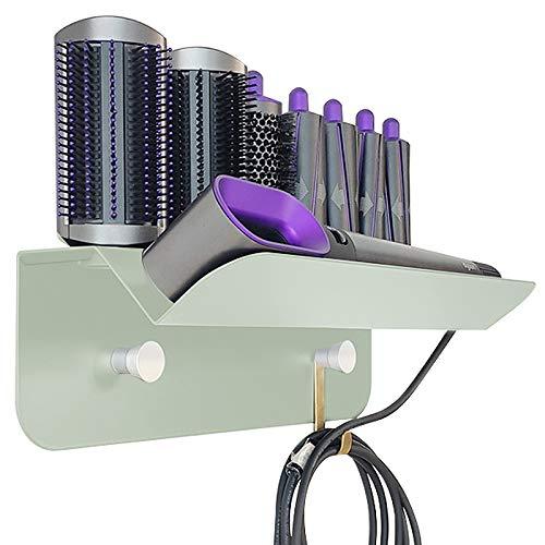 Kyr Soporte de pared para rizar el pelo, soporte de almacenamiento, organizador compatible con Dyson Airwrap Styler