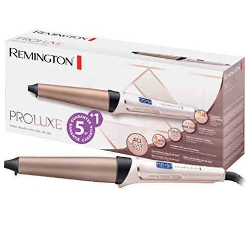 Remington PROluxe CI91X1 - Rizador de pelo, Pinza de 25- 38 mm, Cerámica Avanzada GripTech, Digital, Rosa