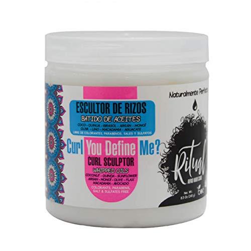 Crema para rizos de Ritual Afro con mezcla nutritiva de aceites para el pelo – producto para definir rizos 245g