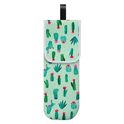 MYBOON Bolsa de Almacenamiento Floral Colorida Bolsa de Plancha de Pelo con Soporte para rizador a Prueba de Calor