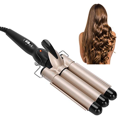 3 barriles de hierro ondulado, rizos grandes, herramienta de estilismo para el pelo largo/corto, rizador de pelo, temperatura constante,...