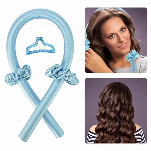 Varilla para Rizar Sin Calor, Silk Hair Rizador Sin Calor, Rizador Pelo Sin Calor, Diadema con Varilla para Rizar Sin Calor, Rizador Sin...