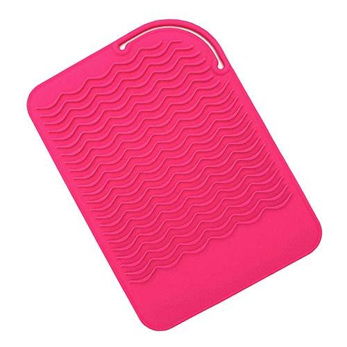 1 unid silicona resistente al calor Mat portátil viaje rizador titular de la estación de peinado Mat cubierta para embalaje pelo ondulado...