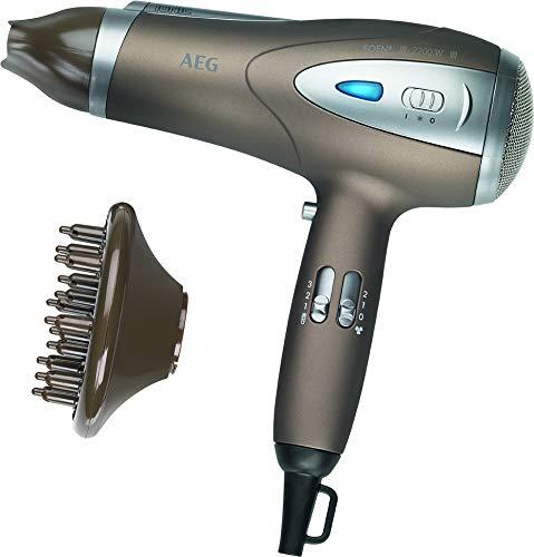 AEG HTD 5584 - Secador de pelo profesional iónico con difusor, 3 niveles de temperatura, 2 velocidades, 2200 W, color marrón