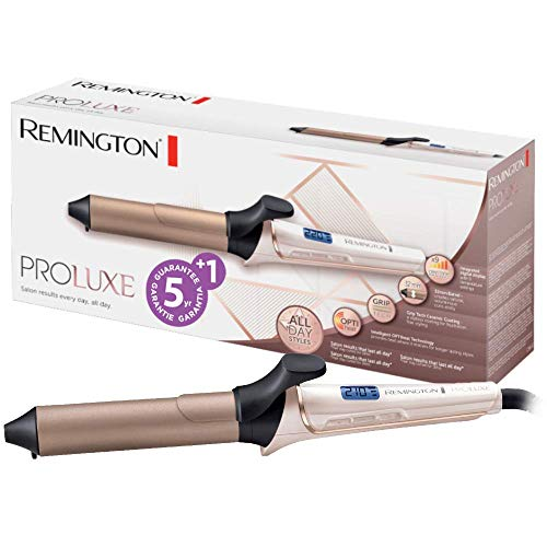 Remington Proluxe CI9132 - Rizador de Pelo, Cerámica y Revestimiento GripTech, Pinza de Pelo de 32 mm, Rosa