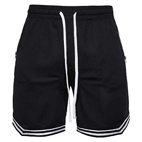 U/A - Pantalones cortos para hombre Negro Negro ( 50