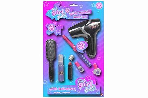 TOYLAND Su Stuff Girl! Chicas 8pce Set de Pelo - Secador de Pelo, rizadores + Accesorios [Toy]