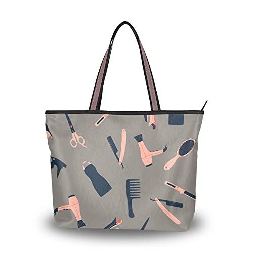 Bolsos de mano para mujer de dibujos animados lindos bolsos de rizador de pelo para niña de moda para mujer bolsos de hombro grandes para...