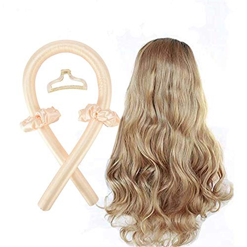 Rizador de pelo sin calor, sin banda de calor, rizos grandes, pelo de seda