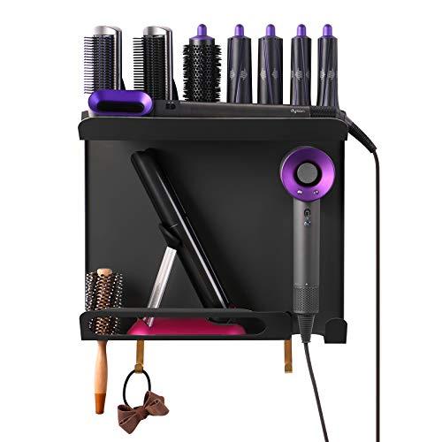 Kyr Soporte de pared 3 en 1, compatible con Dyson Airwrap Styler, rizador de pelo, accesorios para secador de pelo Dyson Supersonic y...