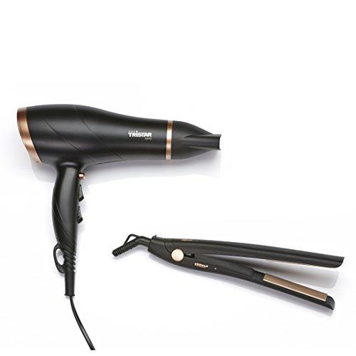 Tristar HD-2366 Secador de pelo y Plancha Alisadora: Secador de pelo con tecnología iónica, Plancha Alisadora hasta 200 ⁰C