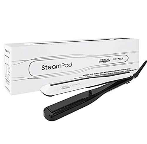 L'Oreal Professionnel - Steampod 3.0, Plancha de Pelo Profesional Potenciada por Vapor, para un Cabello Liso y Ondas Naturales, Enchufe...