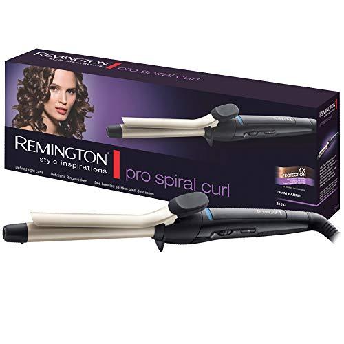 Remington Pro Spiral Curl CI5319 – Rizador de pelo, Pinza de 19 mm, Cerámica, 8 ajustes, hasta 210°C, Negro