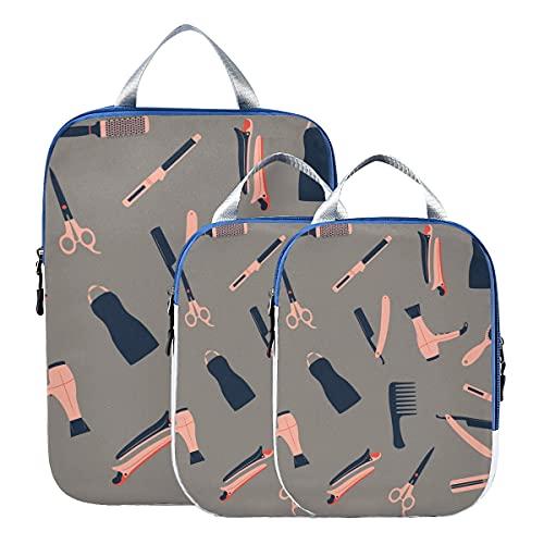Bolsas de almacenamiento de viaje para equipaje de dibujos animados lindo rizador de pelo de niña de moda organizador de bolsas de viaje...