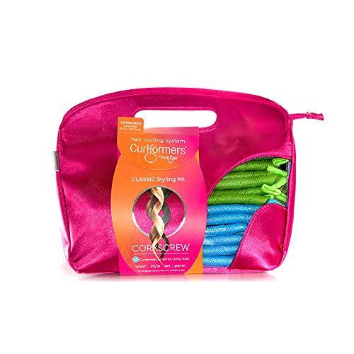 Curlformers - Set de 40 rizadores de pelo para tirabuzones - No requieren calor - Con 2 aplicadores - Para cabellos de hasta 55cm (22') de...
