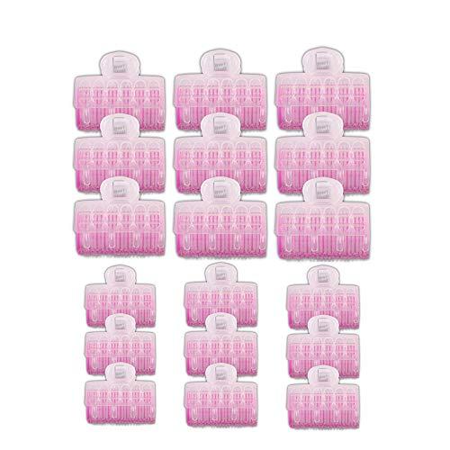 18 rulos de cabello de auto agarre rodillos autoportantes rizadores de peluquería de salón 25 mm, 30 mm con 18 unidades grandes y...