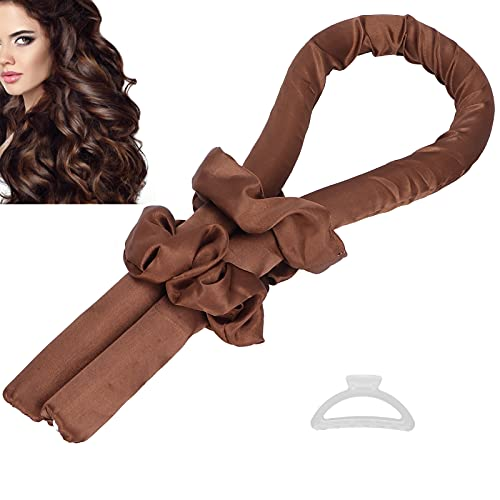 Rizador para dormir, rizador de pelo casero con rizador Rizos suaves para niña para dormir(brown)