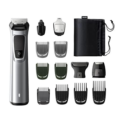 Philips MG7720/15 Recortadora 14 en 1 Maquina recortadora de barba y Cortapelos para hombre, óptima precisión, tecnología Dualcut,...