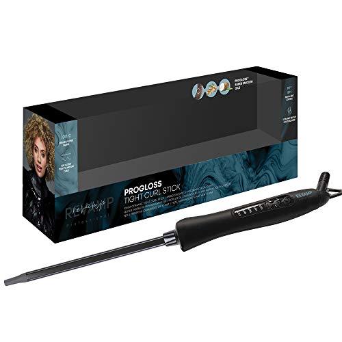 Revamp Progloss Tight Curl Stick Rizador de Pelo con Calor – Modelador Iónico con Barril de Cerámica Delgado para Rizos y Ondas...