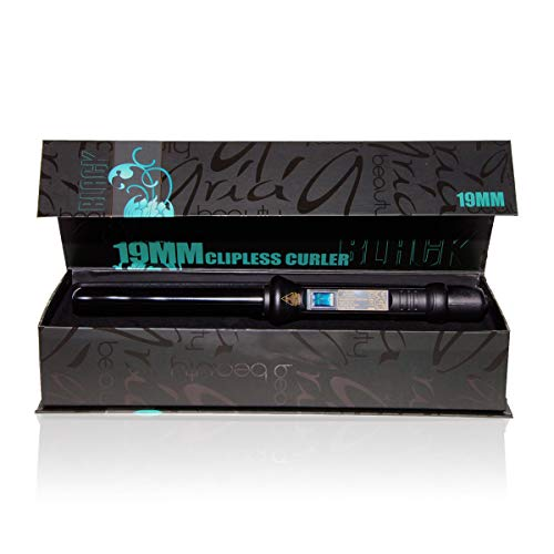 Aria Beauty Clipless Curler Black - Rizador de pelo, 19 mm, color negro