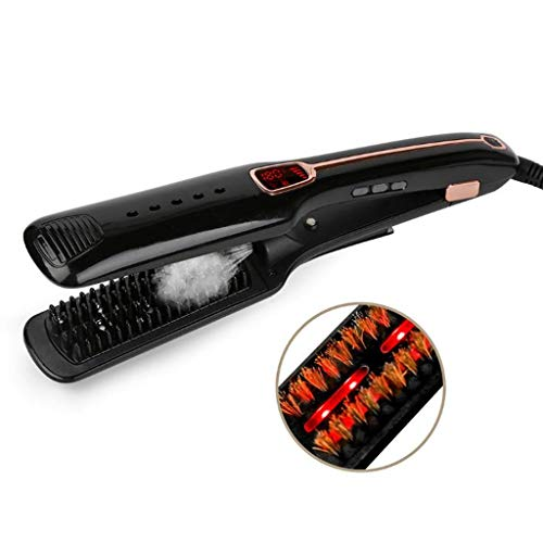 Rizador Pelo Profesional Rizador de pelo, plancha de pelo, autoblocante función de iones negativos infrarrojo chorro de vapor plancha de...