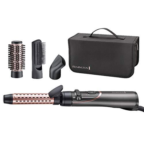 Remington Curl and Straight Confidence - Estilizador de aire caliente giratorio versátil, rizador suave, cepillo de pelo de paletas -...