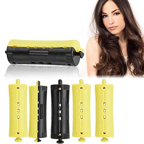 Rodillos de pelo con banda de goma, 6 barras de onda estándar de salón, rizador de calor, permanente, 1 – 6 tamaños, herramienta de...