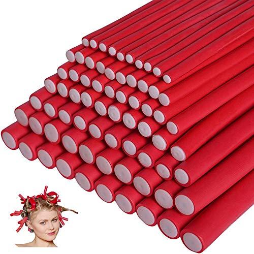 70 piezas de varillas de rizador de pelo de espuma sin calor rizadores de pelo flexibles herramientas de peinado de varios tamaños...