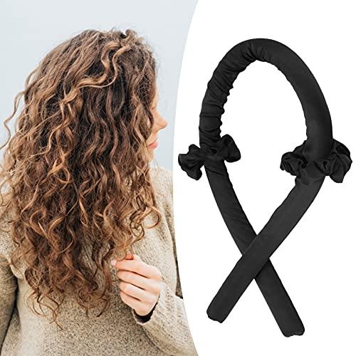Rodillo de pelo de plástico, sin calor, para hacer tú mismo para banquetes, para uso diario para fiestas de cumpleaños (horquilla negra...