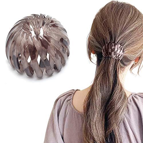 Coleta de pelo rizador con forma de bola para todo tipo de cabello, ideal para tirar fácilmente de tu cabello (color café claro)