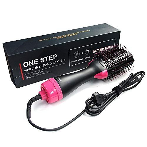 Secador de pelo eléctrico Secador de pelo Rizador de pelo Cepillo giratorio Secador de pelo Herramientas de peinado Profesional 2 en 1...