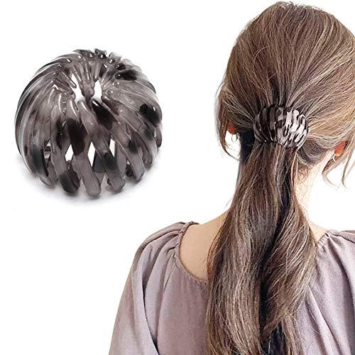 Coleta de pelo rizador con forma de bola para todo tipo de cabello, ideal para tirar fácilmente de tu cabello (color café oscuro)
