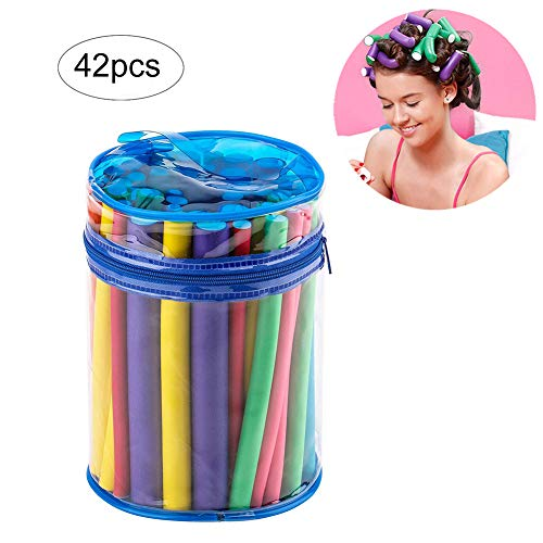 Xiton 1 paquete de rizadores para el cabello juego de varillas flexibles No calienta los rodillos cabello Espuma suave Torsión Flex Barras...