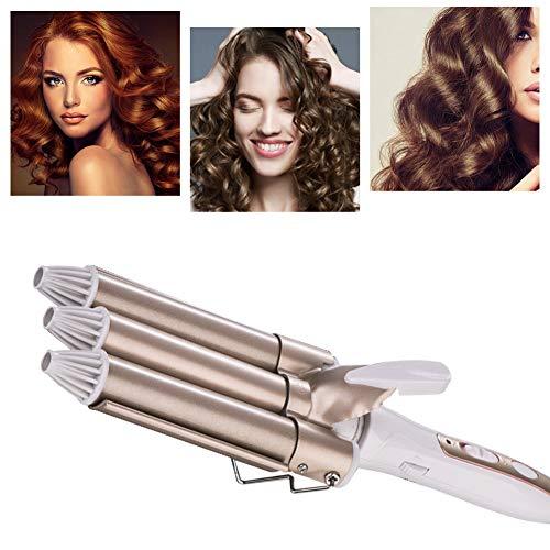 Pinzas Rizadoras, Rizador de pelo, Tenacillas de Pelo, Cerámica de la Turmalina de 3 Barriles Rizador, Iron Wave Curler Multifunción...