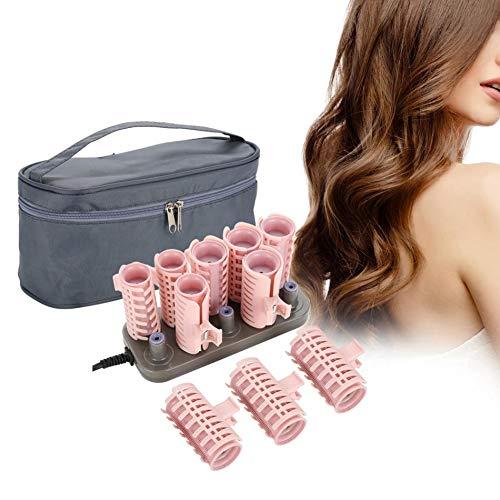 Rollos de pelo eléctrico profesional, 10 piezas/set de rizadores de pelo rizadores de volumen de pelo rizado herramienta de estilismo +...