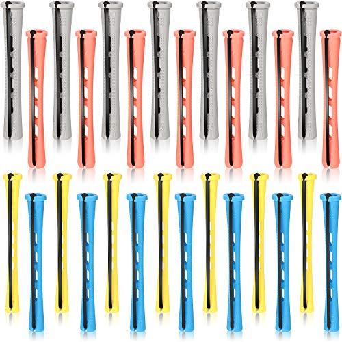 80 Piezas Set de Barras de Permanente de Cabello 4 Tamaños Varillas de Permanente de Plástico de Cabello Varillas Largas de Onda Fría...