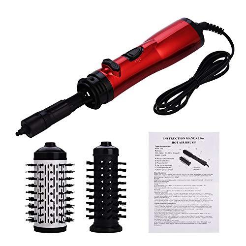 Rizador de dos en uno, herramienta giratoria automática, peine de iones negativos, herramienta de peinado con secador de pelo con rodillo