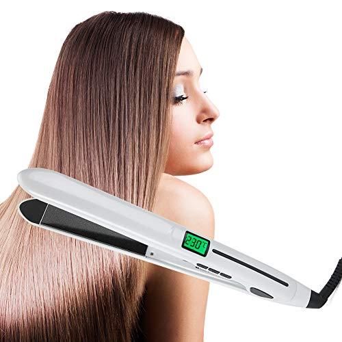 【Venta del día de la madre】Plancha de pelo 2 en 1, mini rizador, herramienta de peinado con temperatura ajustable (UE)