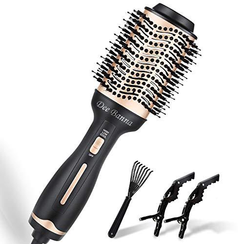 Cepillo para secador de pelo, cepillo de aire caliente, secador de pelo, rigues, peine y plancha de pelo para todo tipo de cabellos (oro +...