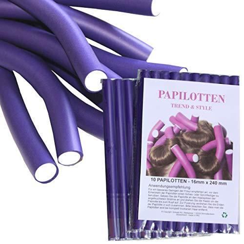 ¡¡NUEVO!! De 10 hasta 60 Bigudíes, de Ø16 x 240mm Rulos para el pelo Rodillos Rulos flexibles Bigudíes Productos de peluquería...