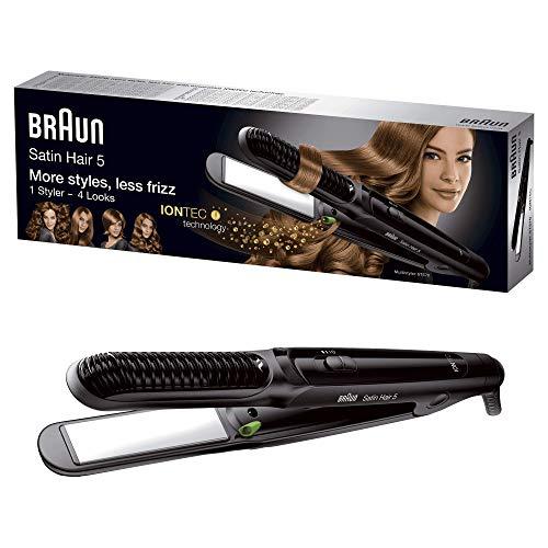 Braun Satin Hair 5 ST570 - Plancha de pelo, placa de cerámica, 4 estilos con rizador y tecnología iónica para potenciar el brillo, color...
