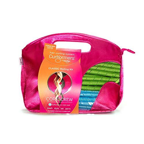 Curlformers - Set de 40 rizadores de pelo para tirabuzones - No requieren calor - Con 2 aplicadores - Para cabellos de hasta 35cm (14') de...