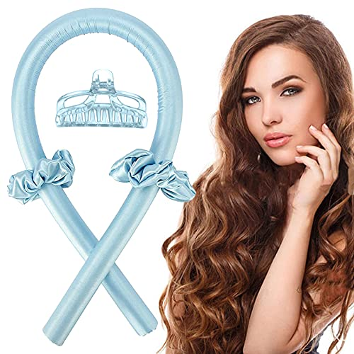 Varilla para rizar sin Calor, Heatless Curler,Silk Hair Curler,Rizadores de Pelo de Onda de cinta,Diadema de vara de curling sin calor...